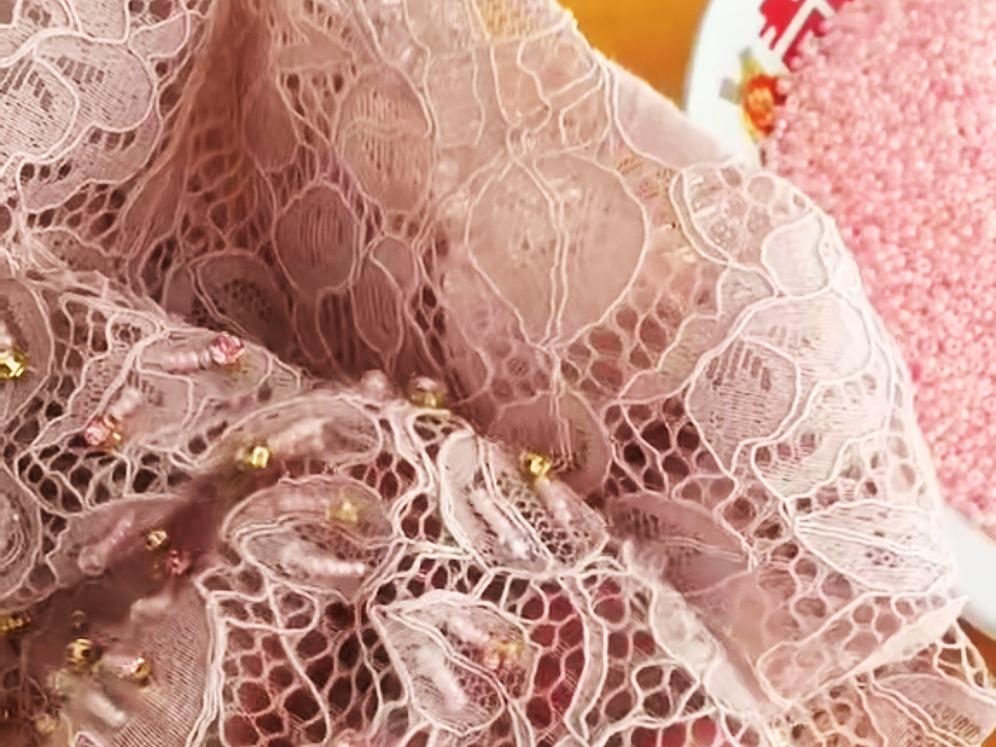 手缝头巾钉珠子装饰品