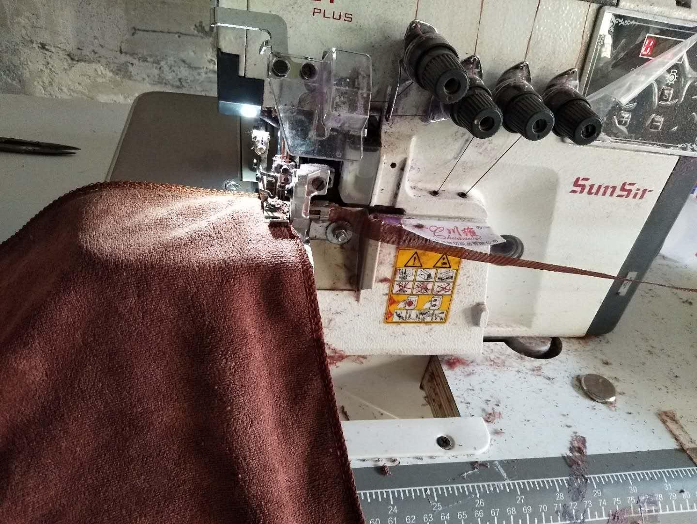 四线包缝机,缝纫活,毛巾,浴巾加工