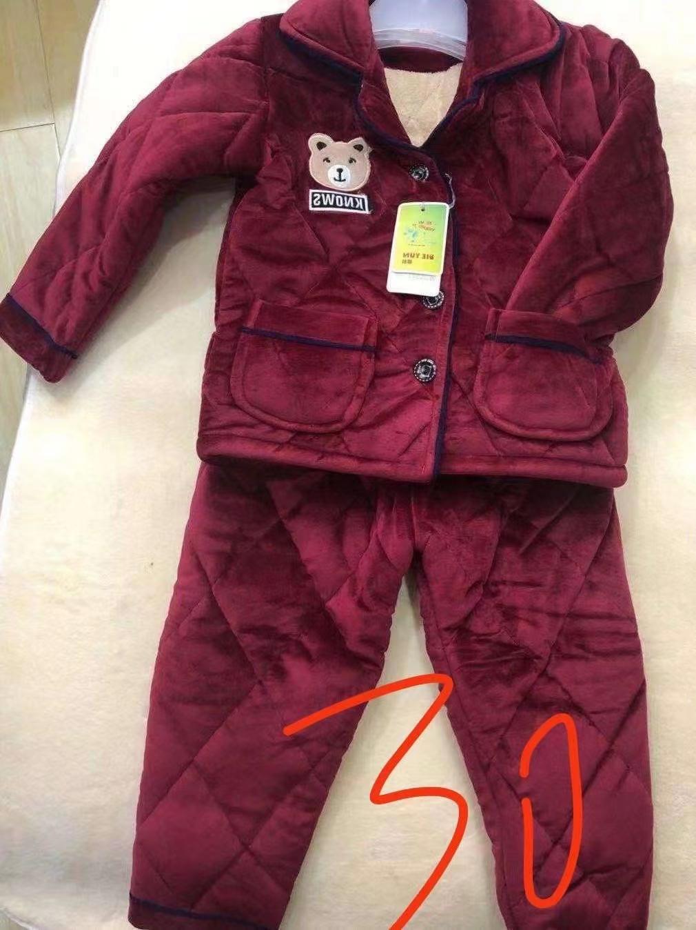 贝贝绒夹棉套装,1500套左右,可分货尺码6到16